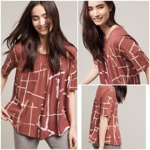 Anthropologie NWT Light Streaks Tee T-shirt Top